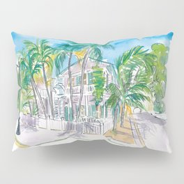 Conch Houses on Whitehead Street Key West Pillow Sham
