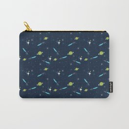 Galactic Fantasy on Dark Blue Carry-All Pouch