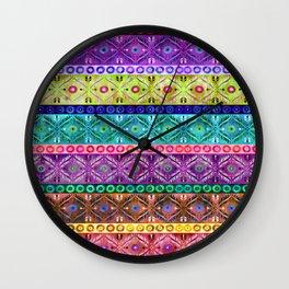 Darjeerling Stripe Wall Clock