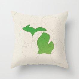 Michigan 26 Throw Pillow