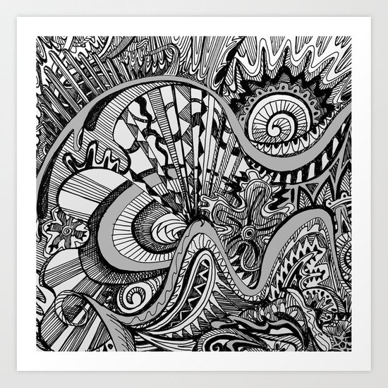 White Knuckled Scream Art Print