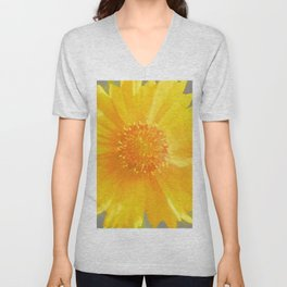 Yellow Wildflower - Coreopsis Unisex V-Neck