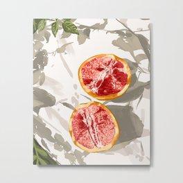Grapefruit kinda zest for life Metal Print