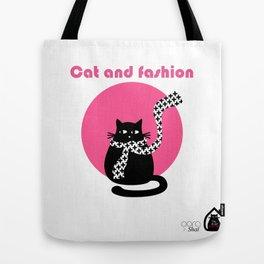 """Cat and fashion"" by Qora & Shaï Tote Bag"