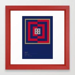 Cagliari Calcio geometric logo Framed Art Print