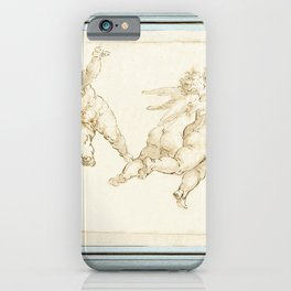 Study of Four Putti (recto) Detail from Lot and His Daughters (verso) (during the 16th century) iPhone Case