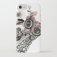 vespa iPhone & iPod Cases featuring Vespa by Mariqui Romero