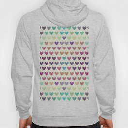 Colorful hearts III Hoody