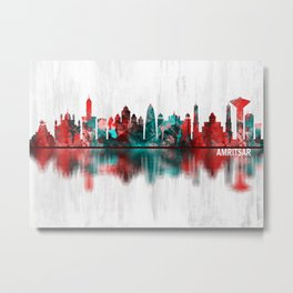 Amritsar Punjab Skyline Metal Print
