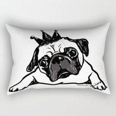 King Pug Rectangular Pillow