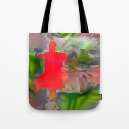 Regreened Field with Church Tote Bag