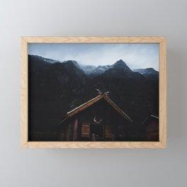 Gudvangen Viking Vally Framed Mini Art Print