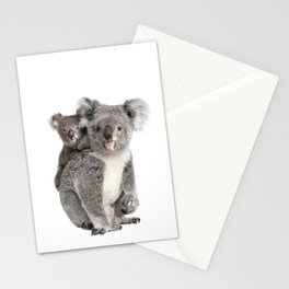 Koala bear and her baby Stationery Cards