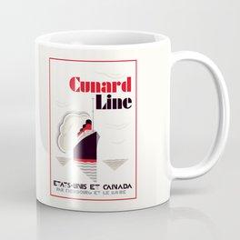 Cunard Line art deco style Coffee Mug