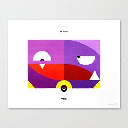 PKMNML #109 - 110 (EVOLUTION) KOF FING - WEE ZING Canvas Print
