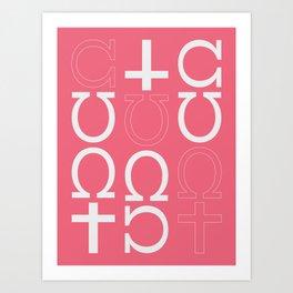 C*nt Abstract Art Print