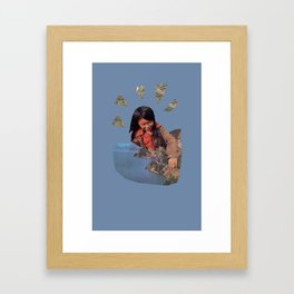 Play With Earth Framed Art Print