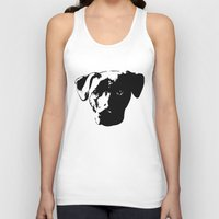 pit bull Tank Tops featuring Lab Pit Bull by MIX INX