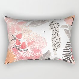 Stalking Leopard Rectangular Pillow