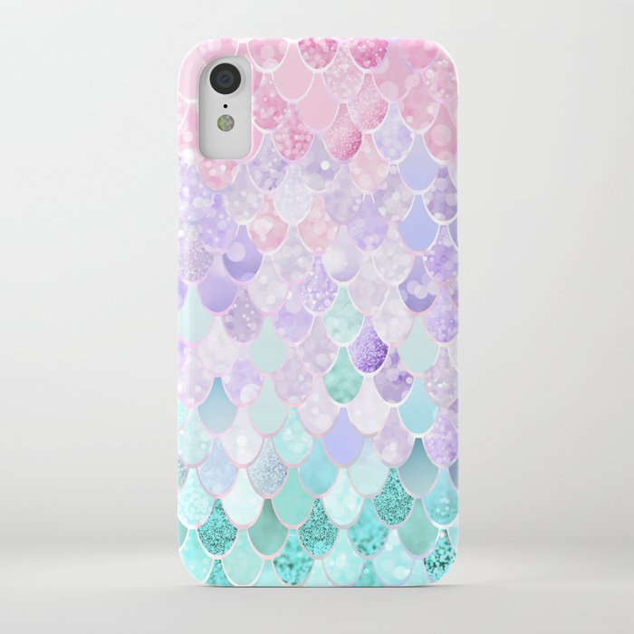 mermaid pastel iridescent iphone case