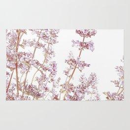 Soft Pink Wild Summer Flowers Rug