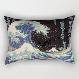 The Great Vaporwave Rectangular Pillow