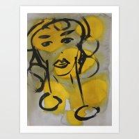 highlights - Original painting by carina schubert Art Print