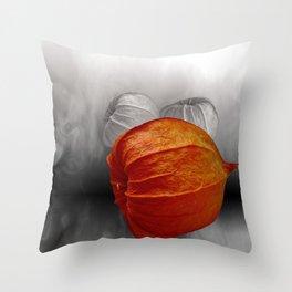 physalis - colorkey Throw Pillow