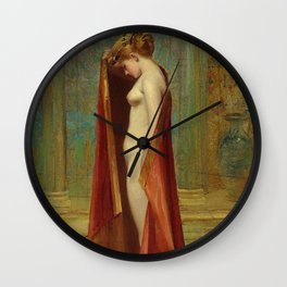 "Luis Ricardo Falero ""A beauty"" Wall Clock"