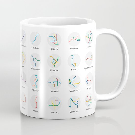 Mini Metros - U.S. and Canada (Color) Mug