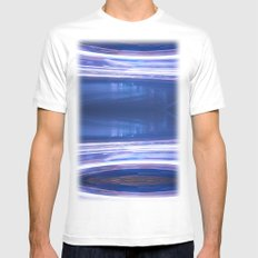 Night Light 121 Mens Fitted Tee White MEDIUM