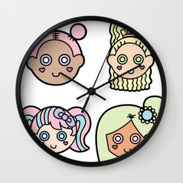 Cutie Pies Wall Clock