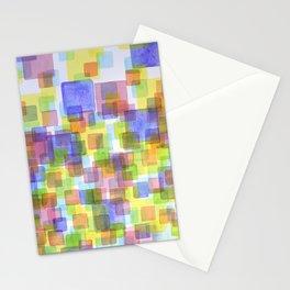 Floating Lightfull Squares  Stationery Cards