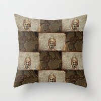 gladiator Throw Pillows featuring Gladiator II by Alec Bancher