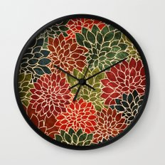 Floral Abstract 7 Wall Clock