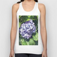 hydrangea Tank Tops featuring Hydrangea by Linda Hoover