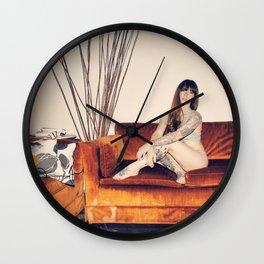 Hattie Couch Wall Clock
