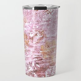 Abstract Autumn In Gold-Rosé Travel Mug