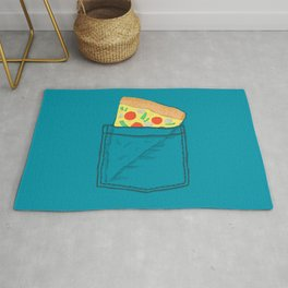 Emergency supply - pocket pizza Rug
