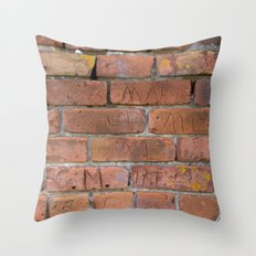 Initially Brick Throw Pillow