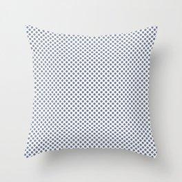 Stonewash Polka Dots Throw Pillow