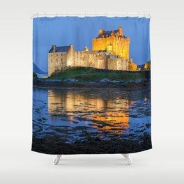 EILEAN DONAN CASTLE SCOTLAND AT NIGHT Shower Curtain