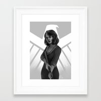 agent carter Framed Art Prints featuring CA Agent Carter by maeng