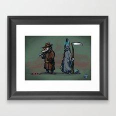 #40 Discworld Noir: Lewton, Death and Death of Rats Framed Art Print