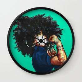 Naturally the Riveter TEAL  Wall Clock