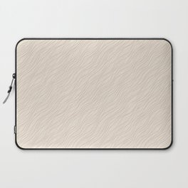Cavern Clay SW 7701 Thin Pinstripe Angled Lines on Creamy Off White SW7012 Laptop Sleeve