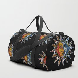 Celestial Mosaic Sun and Moon Duffle Bag