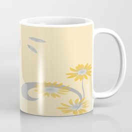Foral Scroll Design - Orange Coffee Mug