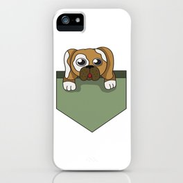 Dog lover pocket animal, boy, cool, cute, dog, friend, funny, geek, happy, home, lovable, paws, pet iPhone Case