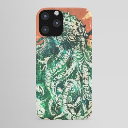 Cthulhu vs Godzilla iPhone Case